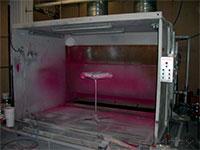 окраска кухонных фасадов в малярной камере